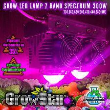 Led світильник Growstar 300W spectrum 7.7