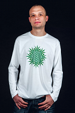 "LongSleeve ""Flower of Life"" муж., цвет - белый (LongSleeve ""Flower of Life"" муж., цвет - белый S)"