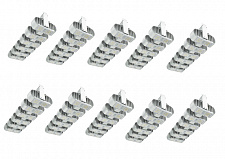 Комплект 10-LED светильников Shuttle 6 Dimmable Silver Prima Klima 240W