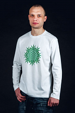 "LongSleeve ""Flower of Life"" муж., цвет - белый (LongSleeve ""Flower of Life"" муж., цвет - белый M)"